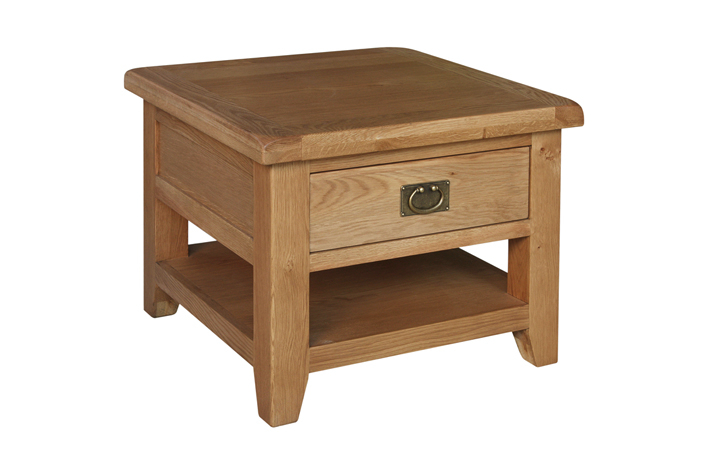 Sussex Rustic Oak - Sussex Rustic Oak Large Lamp Table with Drawer