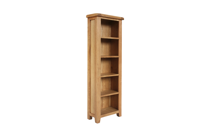 Bookcases - Foxbury Rustic Oak Tall Slim Bookcase