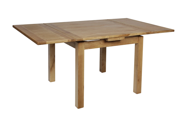 Dining Tables - Foxbury Rustic Oak Small Drawleaf Extending Dining Table