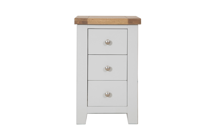 Henley Grey Painted Collection - Henley Grey Painted 3 Drawer Bedside Cabinet