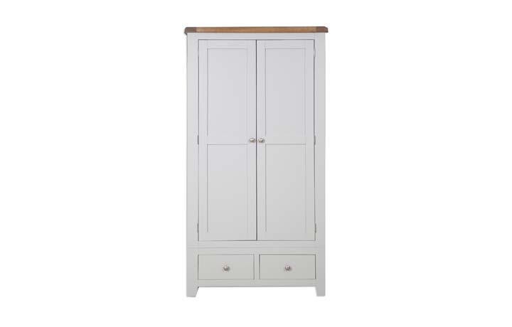 Wardrobes - Henley Grey Painted Gents Double Wardrobe