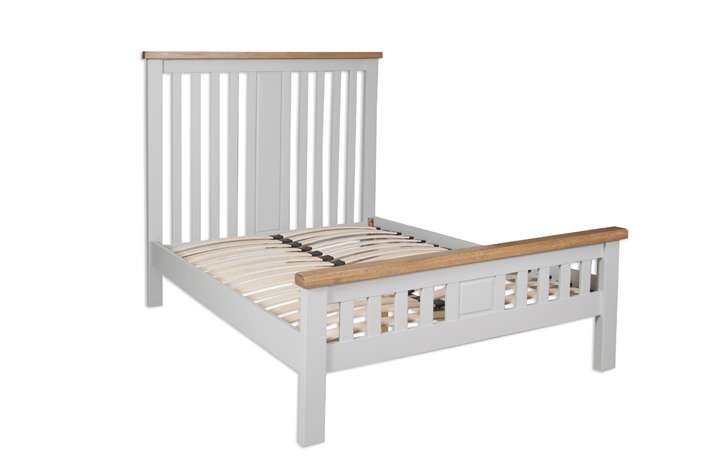 Beds & Bed Frames - Henley Grey Painted 4ft6 Double Bed Frame