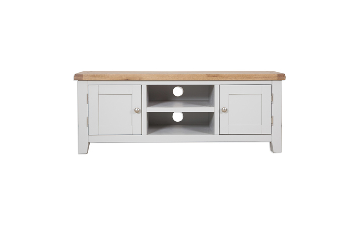 Henley Grey Painted Collection - Henley Grey Painted Large TV Unit