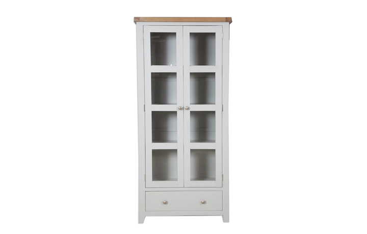 Display Cabinets - Henley Grey Painted Display Cabinet