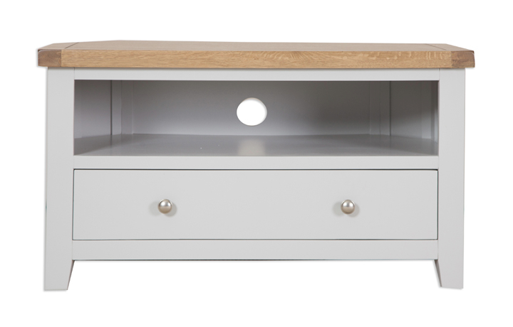 Henley Grey Painted Collection - Henley Grey Painted Corner TV Cabinet