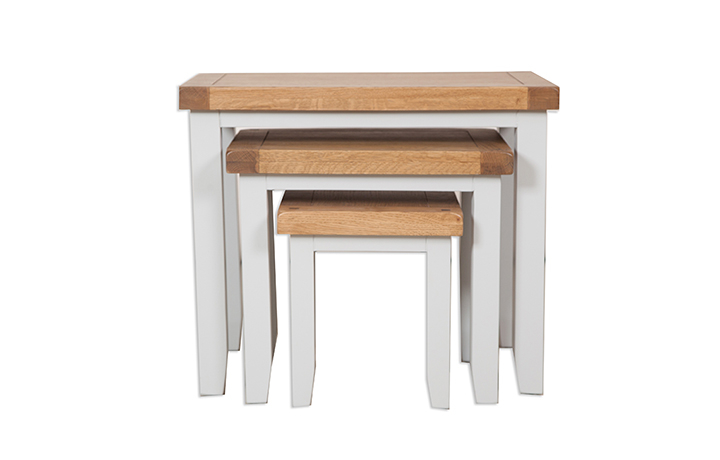 Nested Tables - Henley Grey Painted Nest Of Tables