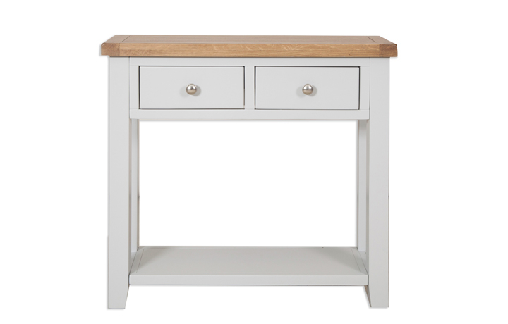 Henley Grey Painted Collection - Henley Grey Painted 2 Drawer Console