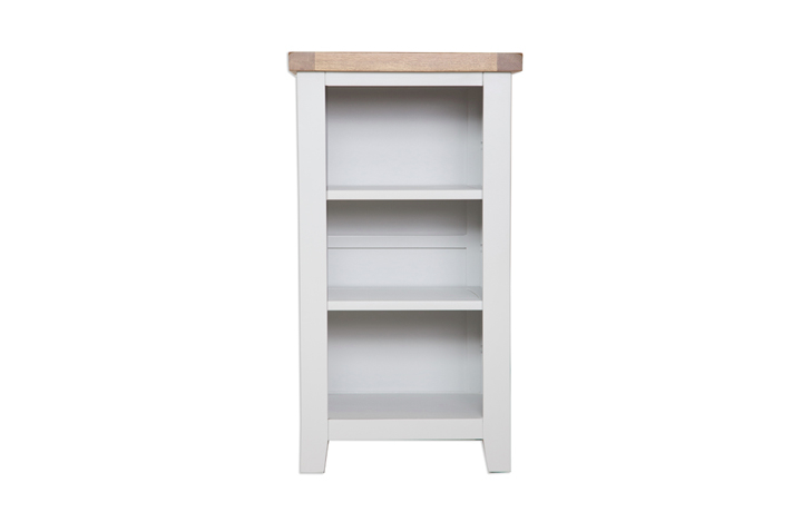 Bookcases - Henley Grey Painted Small Bookcase / DVD Unit