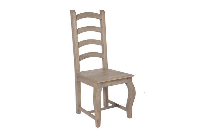 Chairs & Bar Stools - Montpellier Solid Mango High Back Chair