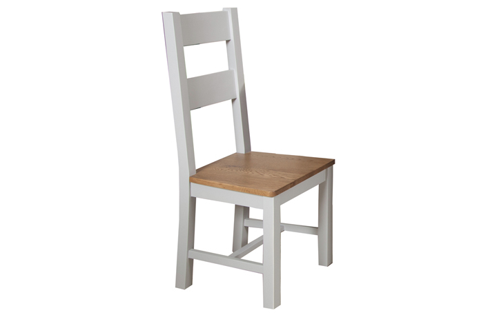 Chairs & Bar Stools - Henley Grey Painted Dining Chair