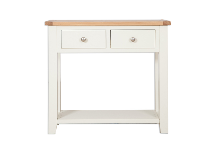 Chelsworth Ivory Painted Collection - Chelsworth Ivory Painted 2 Drawer Console Table