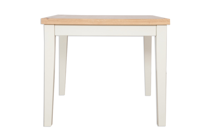 Chelsworth Ivory Painted Collection - Chelsworth Ivory Painted 90cm Square Dining Table