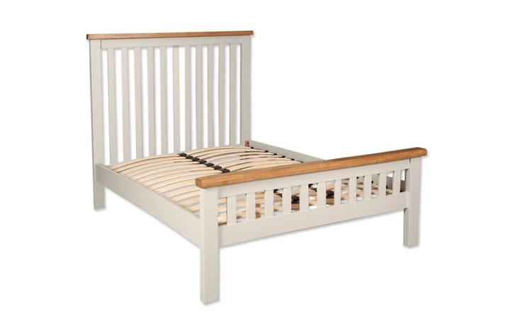 beds - Chelsworth Ivory Double Bed Frame