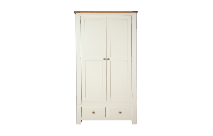 wardrobes - Chelsworth Ivory Double Wardrobe With Drawers