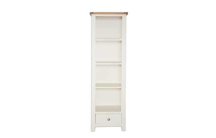 Chelsworth Ivory Painted Collection - Chelsworth Ivory Painted Slim Bookcase