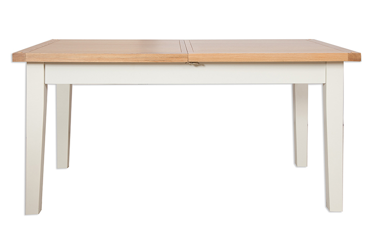 Dining Tables - Chelsworth Ivory Painted 120cm Extending Dining Table
