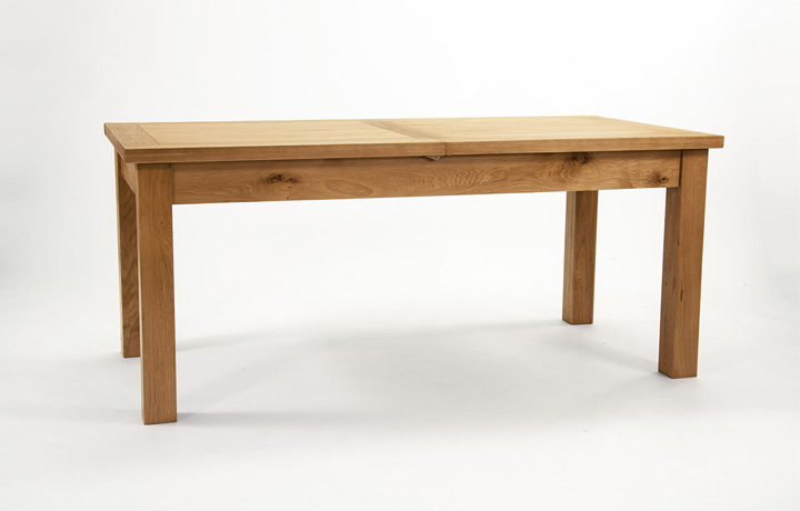 Dining Tables - Devon Oak 220-290cm Twin Leaf Extending Dining Table