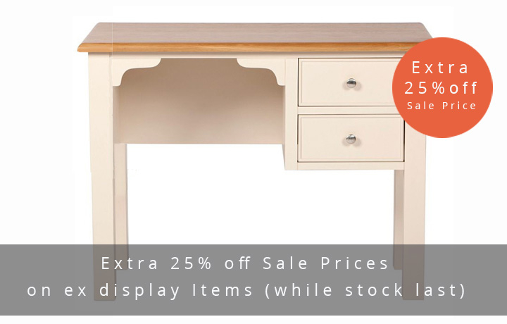 Country House Truffle Painted Collection - Country House - Bedroom - Chest - Single Dressing Table with Stool