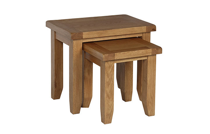 Essex Rustic Oak Furniture Range - Essex Rustic Oak - Living - Nest of 2 Tables