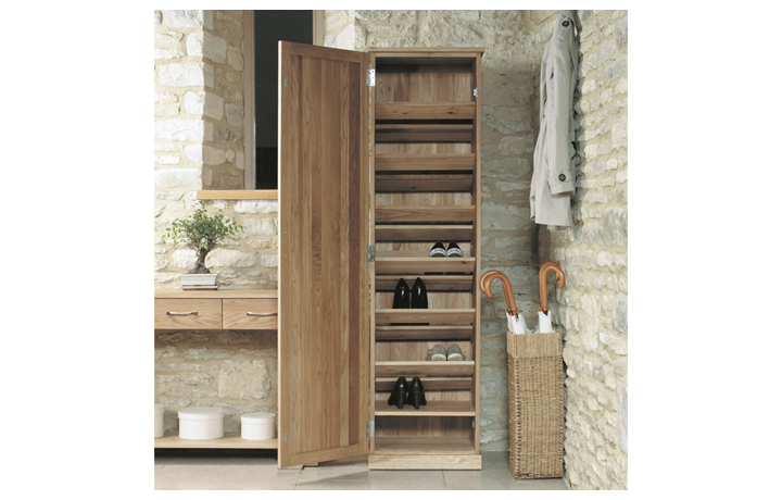 Pacific Oak Furniture Range (Web Exclusive) - Pacific Oak Tall Shoe Cupboard