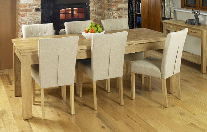 Pacific Oak Furniture Range (Web Exclusive) - Pacific Oak  Extending Oak Dining Table (Seats 4-8)
