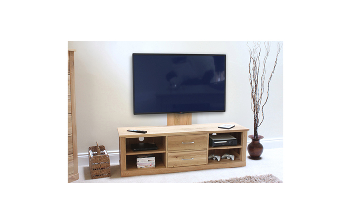 Pacific Oak Furniture Range (Web Exclusive) - Pacific Oak Mounted Widescreen Television Cabinet