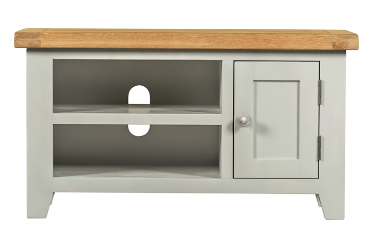 TV Cabinets - Eden Grey Painted Small TV Unit