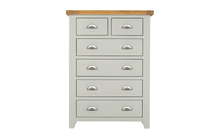 Chest Of Drawers - Eden Grey Painted 2 Over 4 Chest Of Drawers