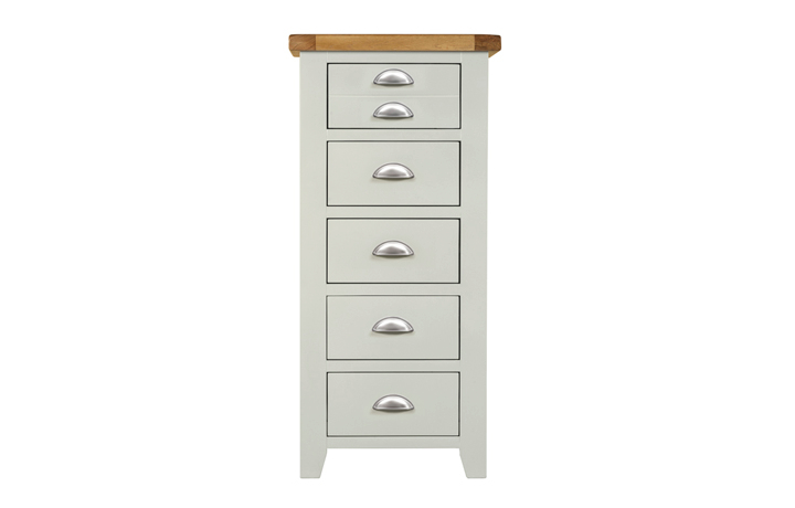 Chest Of Drawers - Wexford Grey Painted Tall Chest 5 Drawers