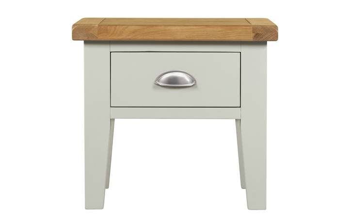 Painted Coffee Tables - Eden Grey Painted Lamp Table With Drawer
