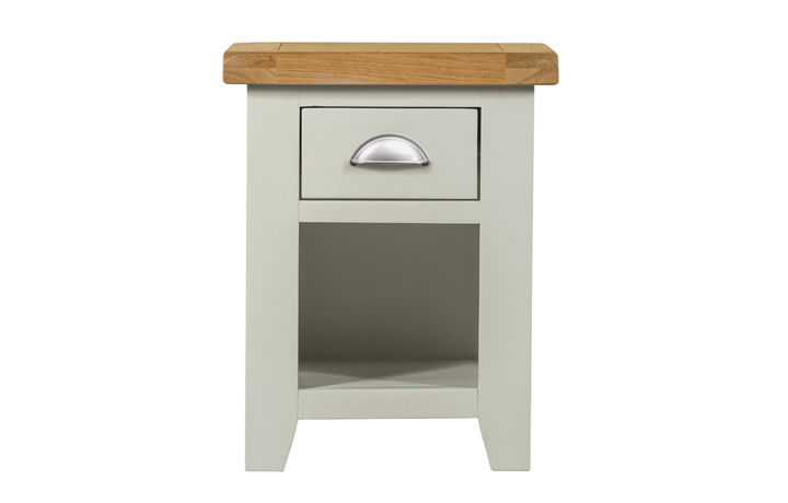 Bedsides - Eden Grey Painted Small 1 Drawer Bedside