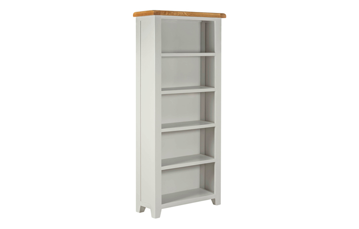 Bookcases - Eden Grey Painted Large Open Bookcase