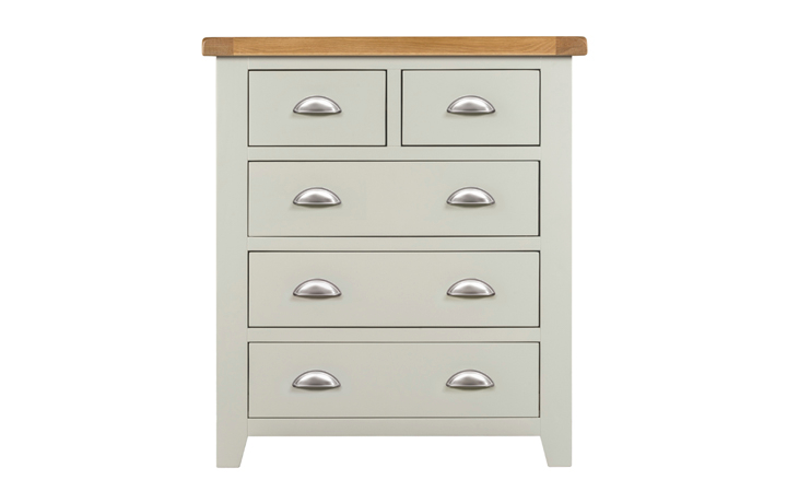 Chest Of Drawers - Eden Grey Painted 2 Over 3 Chest Of Drawers