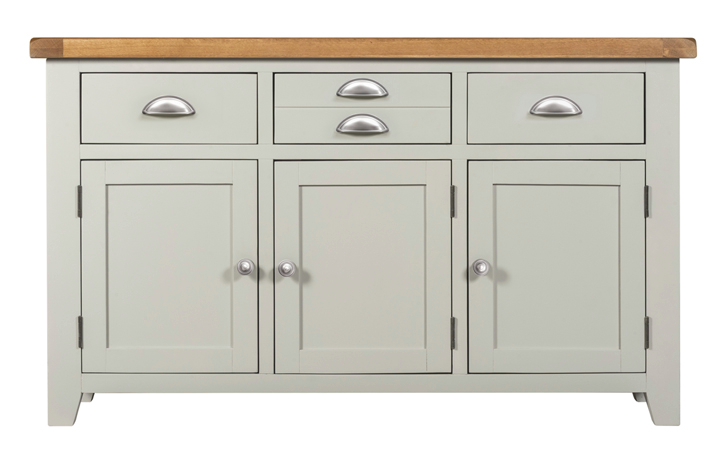 Wexford Grey Painted Collection - Wexford Grey Painted 3 Doors 3 Drawers Sideboard