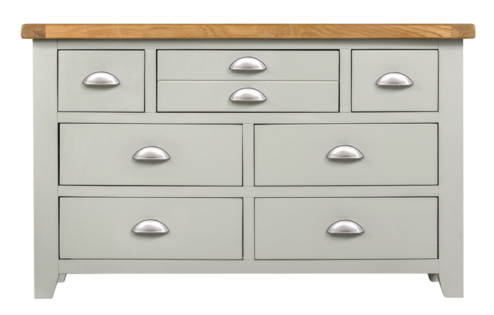 Chest Of Drawers - Eden Grey Painted 3 Over 4 Chest Of Drawers