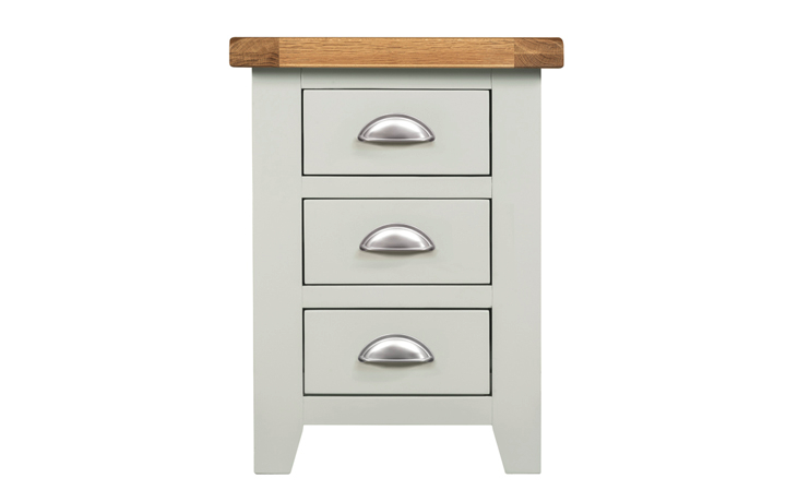 Wexford Grey Painted Collection - Wexford Grey Painted 3 Drawer Bedside