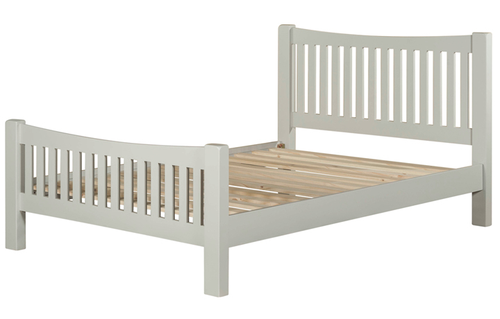 Bed Frames - 4ft6in Wexford Grey Painted Double Bed Frame