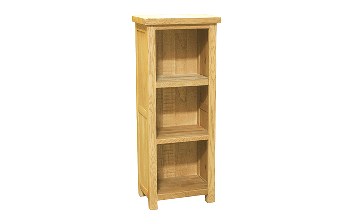 Bookcases - Norfolk Rustic Solid Oak Medium CD/DVD/Bookcase 1200