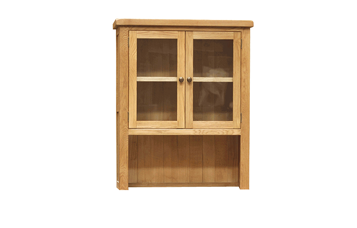 Dressers - Norfolk Rustic Oak Small Glazed Dresser Top