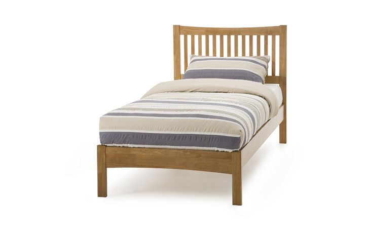 Beds & Bed Frames - 3ft Mya Single Slated Bed Frame With Low End