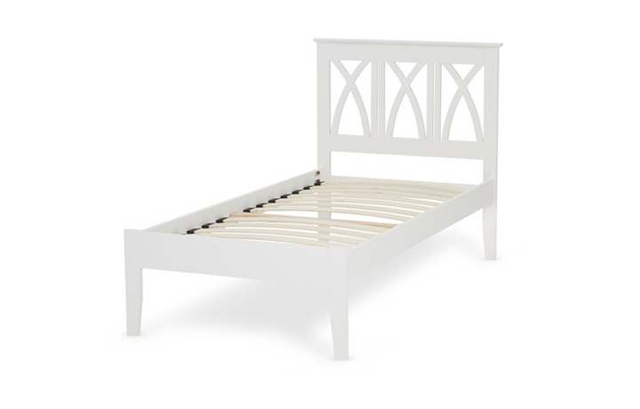 Beds & Bed Frames - 3ft Autumn Single White Painted Cross Back Bed Frame