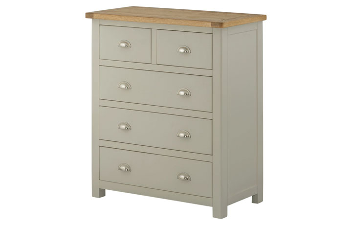 Chest Of Drawers - Pembroke Stone Painted 2 Over 3 Chest