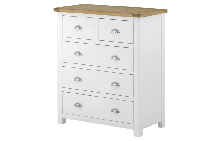 chest-of-drawers - Pembroke White Painted 2 over 3 Chest
