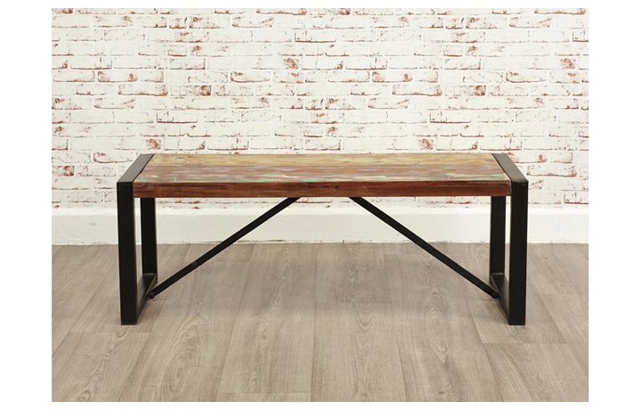 Benches - Mali Reclaimed Pine Small Dining Bench