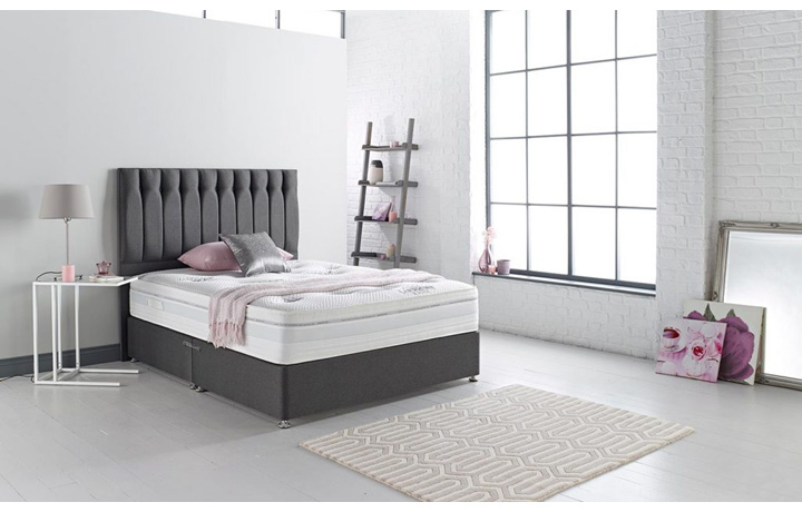 3ft-single-mattress-and-divan-bases - 3ft Single Elite 1000 Mattress and Divan Base With 2 Drawers