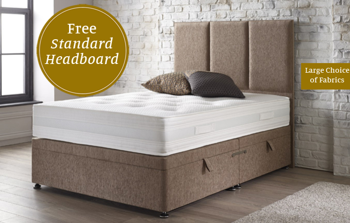 4ft6 Double Mattress & Divan Special Offers - 4'6ft Double Elite 1000 Mattress With Side Opening Ottoman Divan Base