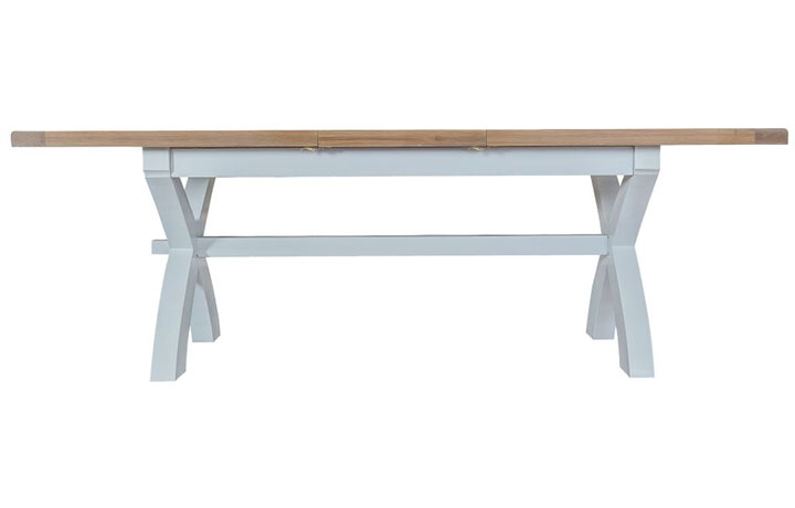 Dining Tables - Regency Grey Painted 180-230cm Cross Leg Extending Dining Table