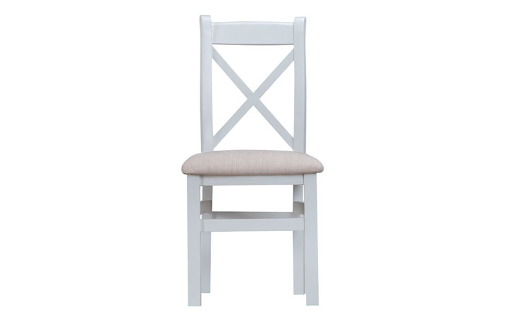 Regency Grey Painted Collection - Regency Grey Painted Cross Back Fabric Seat Chair