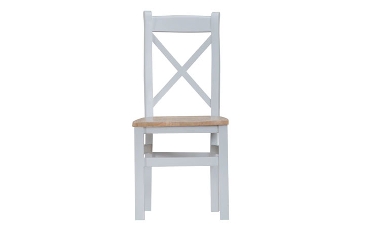 Regency Grey Painted Collection - Regency Grey Painted Cross Back Chair Wooden Seat