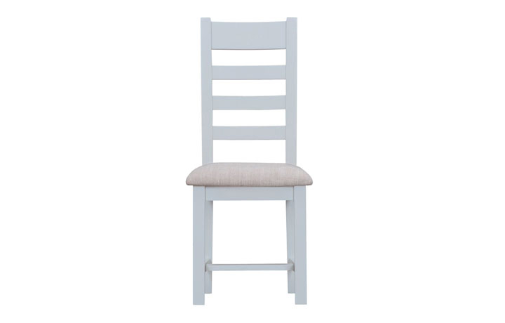 Regency Grey Painted Collection - Regency Grey Painted Ladder Back Chair Fabric Seat